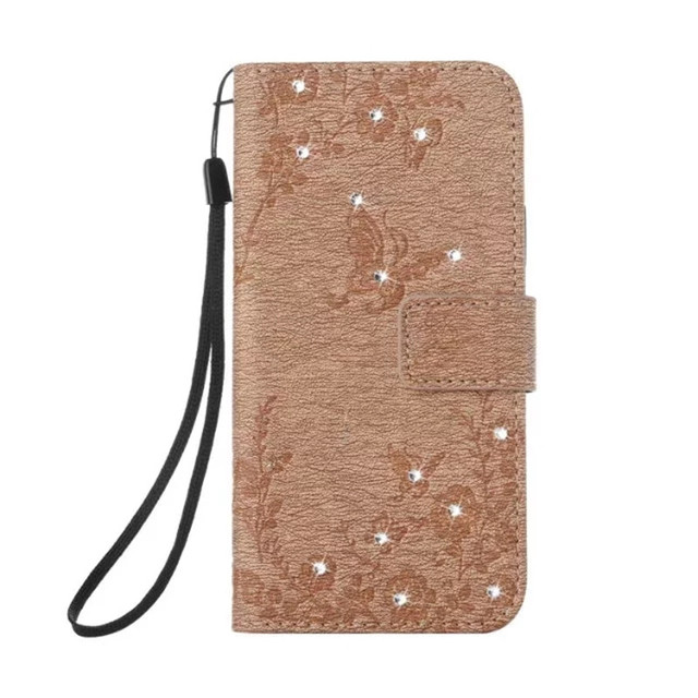 premium selection f481c f8c43 US $4.99 |Butterfly Embossed Leather Case for iPhone X Luxury Bling Diamond  Wallet Case Stand Flip Cover with ID Holder for iPhone X Couqe-in Wallet ...