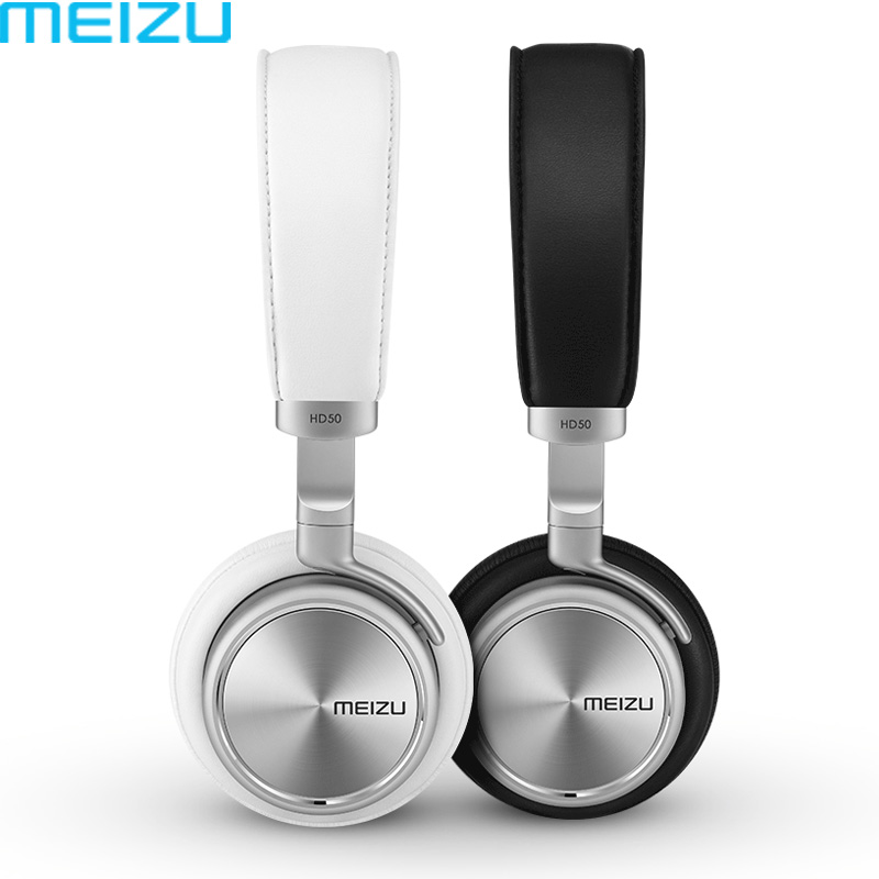 100% Original Meizu HD50 Headphones Aluminium Alloy Shell Earphones Headhand HIFI Mp3 Stereo Bass HIFI Headset Earphone