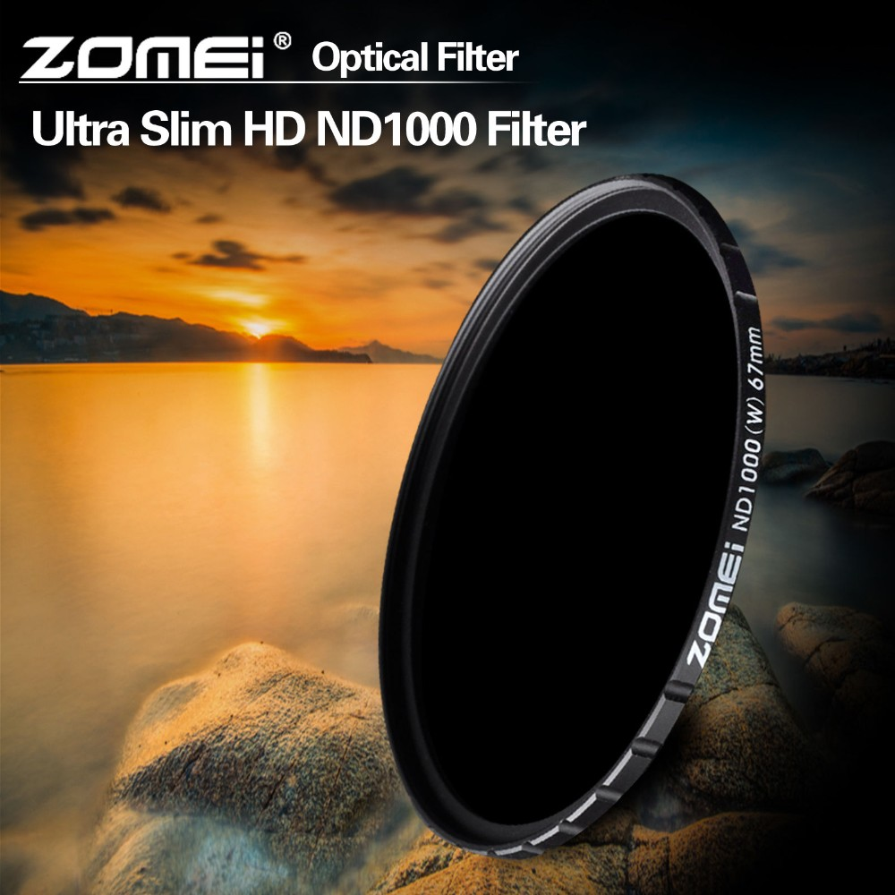 ZOMEi Pro Optical Glass 10-STOP 52/58/67/72/77/82mm Ultra Slim HD Multi-coated ND1000 Neutral Density filter for DSLR camera встраиваемый светильник novotech farfor 369873