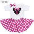Aini Bebé Bebé Minnie Mouse Mamelucos Falda Conjuntos 1 Año cumpleaños Trajes Bebé Embroma la Ropa Trajes Ropa de Recién Nacido conjuntos