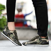 Top Sneakers 2018 Spring Camouflage Shoes Flat Breathable Military Training Shoes Couples Men Women Sports Shoes