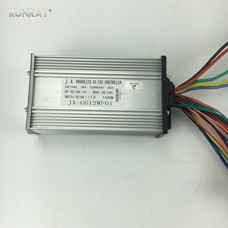 Kunray 48V 1500W 1600W 30A Brushless BLDC Motor Controller 12 Mosfet With Hall For Electric Bicycle Scooter Part 2 Wheel Balance