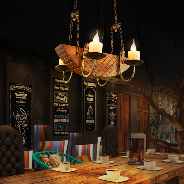 Loft iron pendant lights creative industrial wind cafe fish loft iron pendant lights creative industrial wind cafe fish personality vintage american pirate ship wooden pendant mozeypictures Choice Image