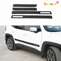 New ABS Body Side Moulding Door Cover Trim Kit Molding Protector Car Styling Mouldings For Jeep