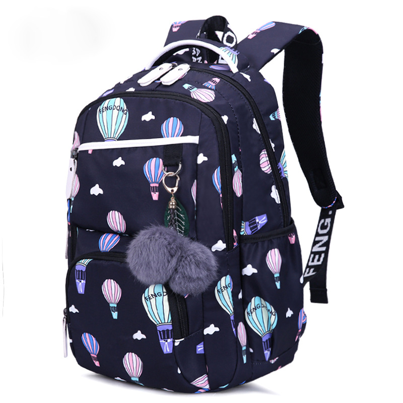 Girls School Backpacks Korean Style Children School Bags Large Capacity Flower Printing Backpack Bag For Girl Kids Mochila