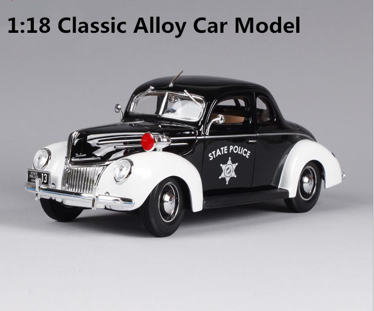 1:18 Advanced alloy retro car model, high simulation Ford 1939 SWAT, 4 open door retro toy vehicle, free shipping high simulation 1 18 advanced alloy car model volkswagen golf gti 1983 metal castings collection toy vehicles free shipping
