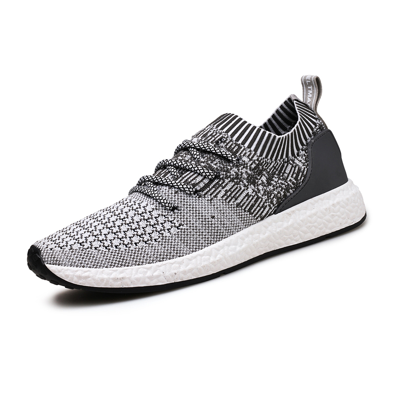 Men Running Shoes Breathable Flyknit Sports Shoes Slip on Summer Superstar Shoes Men Black Sneakers Comfortable Basket Shoes men breathable sports casual shoes