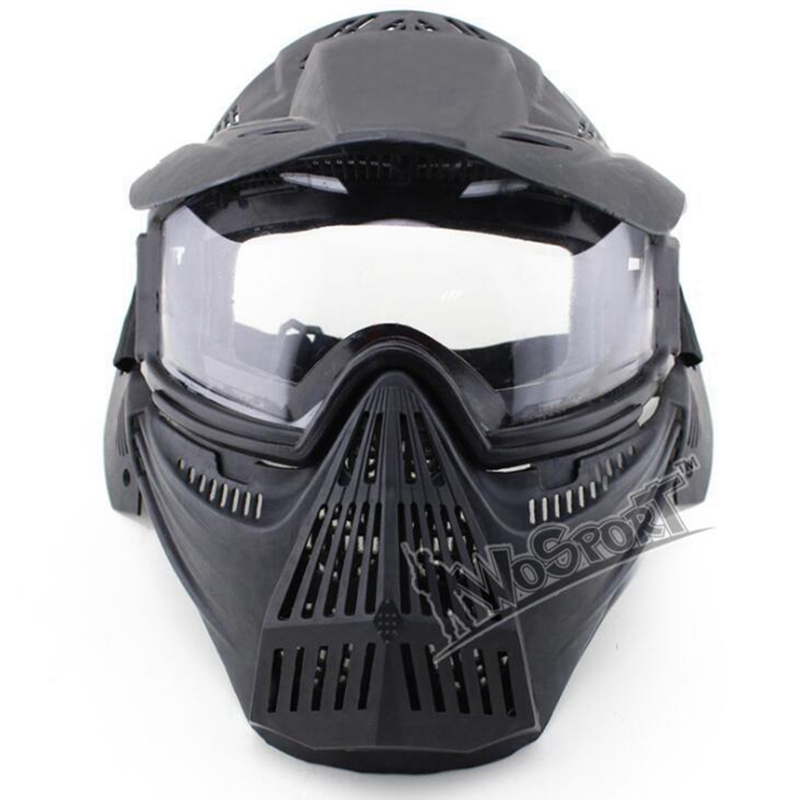 Tactical Outdoor Military CS shooting Hunting Paintball Accessories Masks Ghost CS Wargame Protection Shading Grid Face Mask