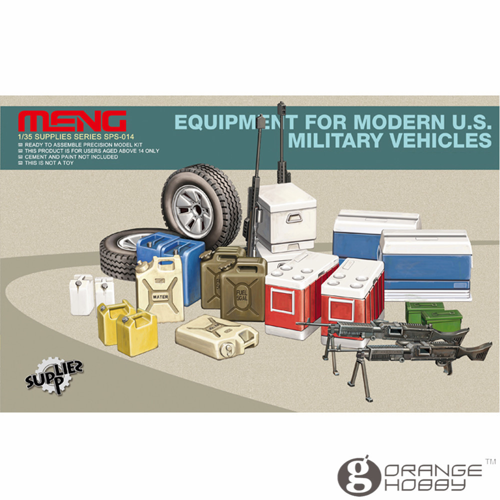 OHS Meng SPS014 <font><b>1/35</b></font> Equipment for Modern U.S. Military Vehicles Assembly figure <font><b>Accessories</b></font> Model Building Kits oh image