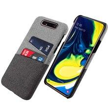 Для samsung Galaxy A80 A70 A60 A50 A40 A30 A20 A10 чехол Защитный тканевый чехол с 2 слотами для карт противоударный для S10 Plus