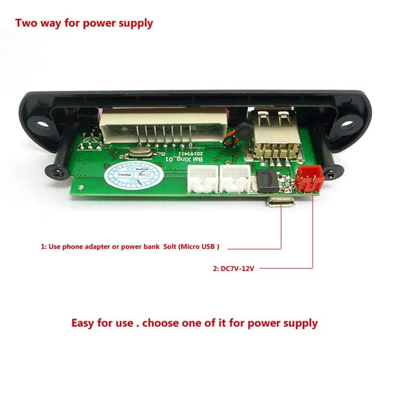 DC 5V Micro USB Power Supply Bluetooth Hands Free LCD Screen