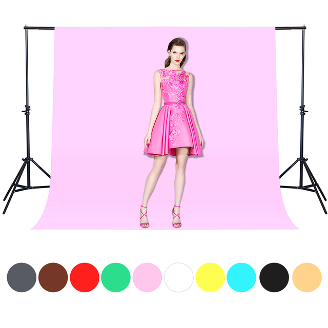CY Hot Sale 1.6x3m pink color Cotton Non-Woven Textile Muslin Photo Backgrounds Studio Photography Screen Chromakey Backdrop
