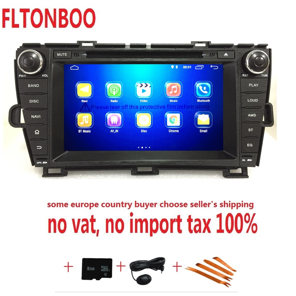 8 Android 8.1for Toyota prius left 2din car dvd,gps navigation,wifi,radio,bluetooth,Steering wheel,Free 8g Map,mic,touch screen