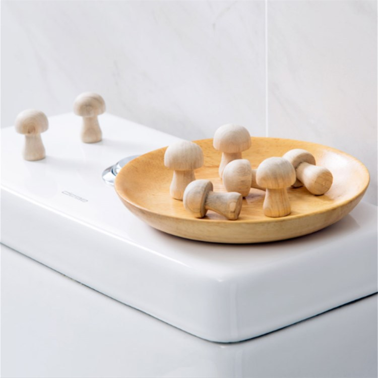 10pcs/pack Mushroom Shaped Wardrobe Camphor Wood Mothballs Mosquito Repellent Clothing Mothballs