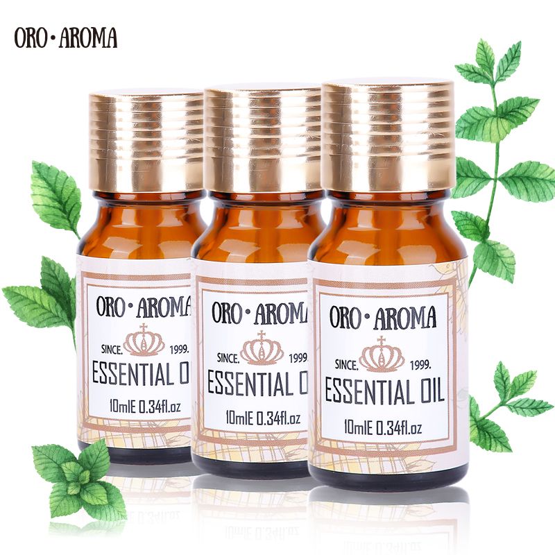 Famous Brand Oroaroma Ylang Rose Jasmine Essential Oils Pack For Aromatherapy, Massage,Spa, Bath 10ml*3