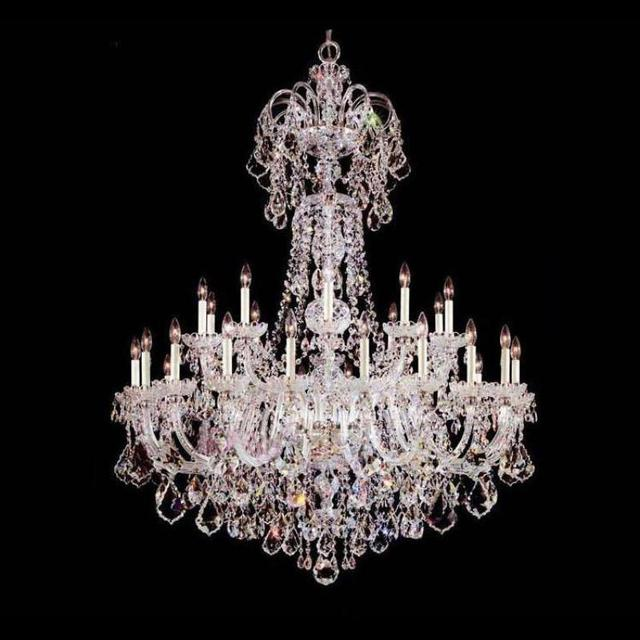 Customized Deluxe K9 clear crystal chandelier lighting lampara Great large church living room chandelier led lustres de cristal
