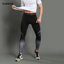 BARBOK High quality compression tights pants fitness workout jogging pants for men engineers sporting sweat manly pants