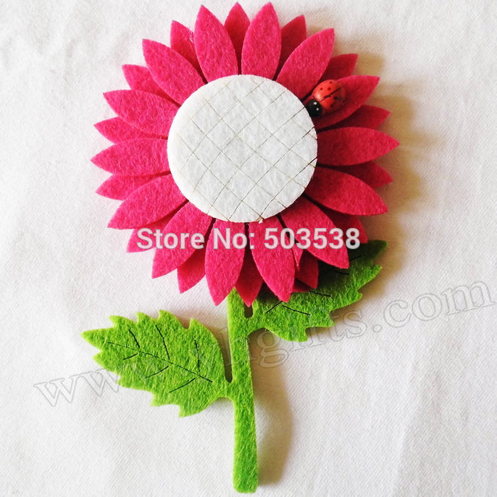 10PCS/LOT,Beautiful sun flower fridge magnet,Kids toys.Early educational DIY.Kindergarten crafts.Gifts.Wholesale