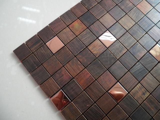 Freies Verschiffen, Bronze Gemischt Stahl Mosaik Fliesen Für Wohnzimmer  Esszimmer Schlafzimmer Wand Fliesen Badezimmer