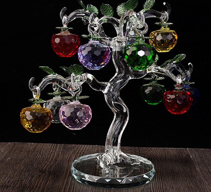 Новый год Chirstmas яблоня висит хрусталя Стекло многоцветный граненые яблоки Украшения (10 шт.) для Рождество украшения