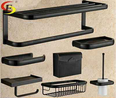 Free Shipping 8663 All Copper Black And Tan Towel Rack Set Europe Type Restoring Ancient Ways