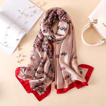 REALSISHOW 2019 New Design Luxury Brand Solid silk Summer Scarf Folral Women Muslim Hijab Shawl Long Soft Wraps For Ladies