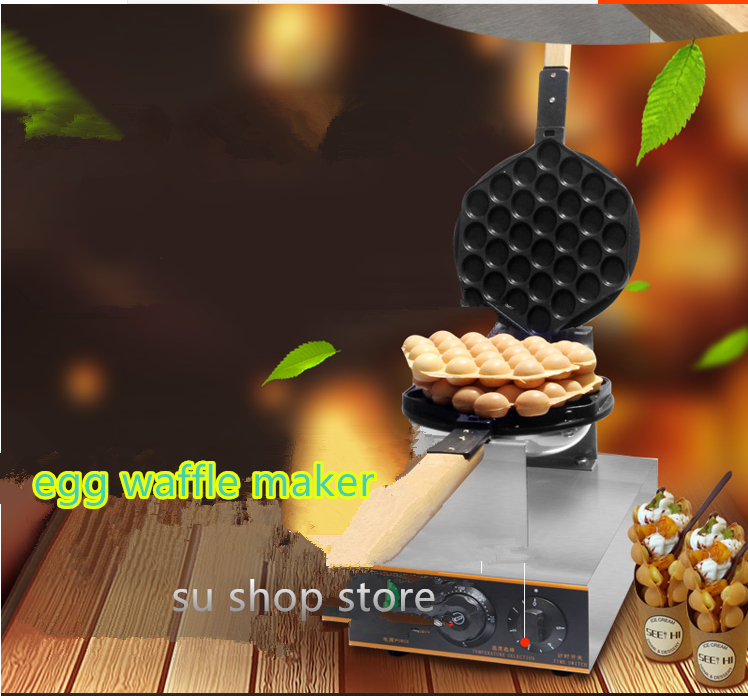 220V/110V commercial electric Chinese Hong Kong eggettes puff cake waffle iron maker machine bubble egg cake oven 26 nanjing province specialty wheat cake gold flower cake sesame cake fuling horseshoe crisp cake optional