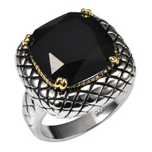 Big Black onyx 925 Sterling Silver Ring Manufacturing unit Value For Ladies and Males Dimension 6 7 eight 9 10 11 F1515