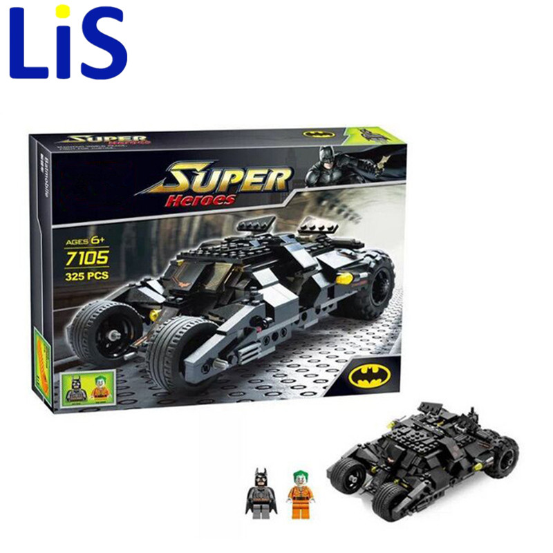 Lis Decool 7105 Batman The Tumbler Batmobile Batwing Joker Super Heroes Cars Building Blocks Bricks Compatible lepin