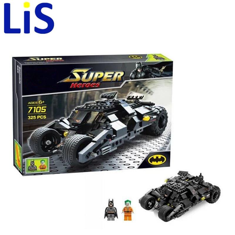 Lis Decool 7105 Batman The Tumbler Batmobile Batwing Joker Super Heroes Cars Building Blocks Bricks Kids toys Christmas gifts детская игрушка decool 7105