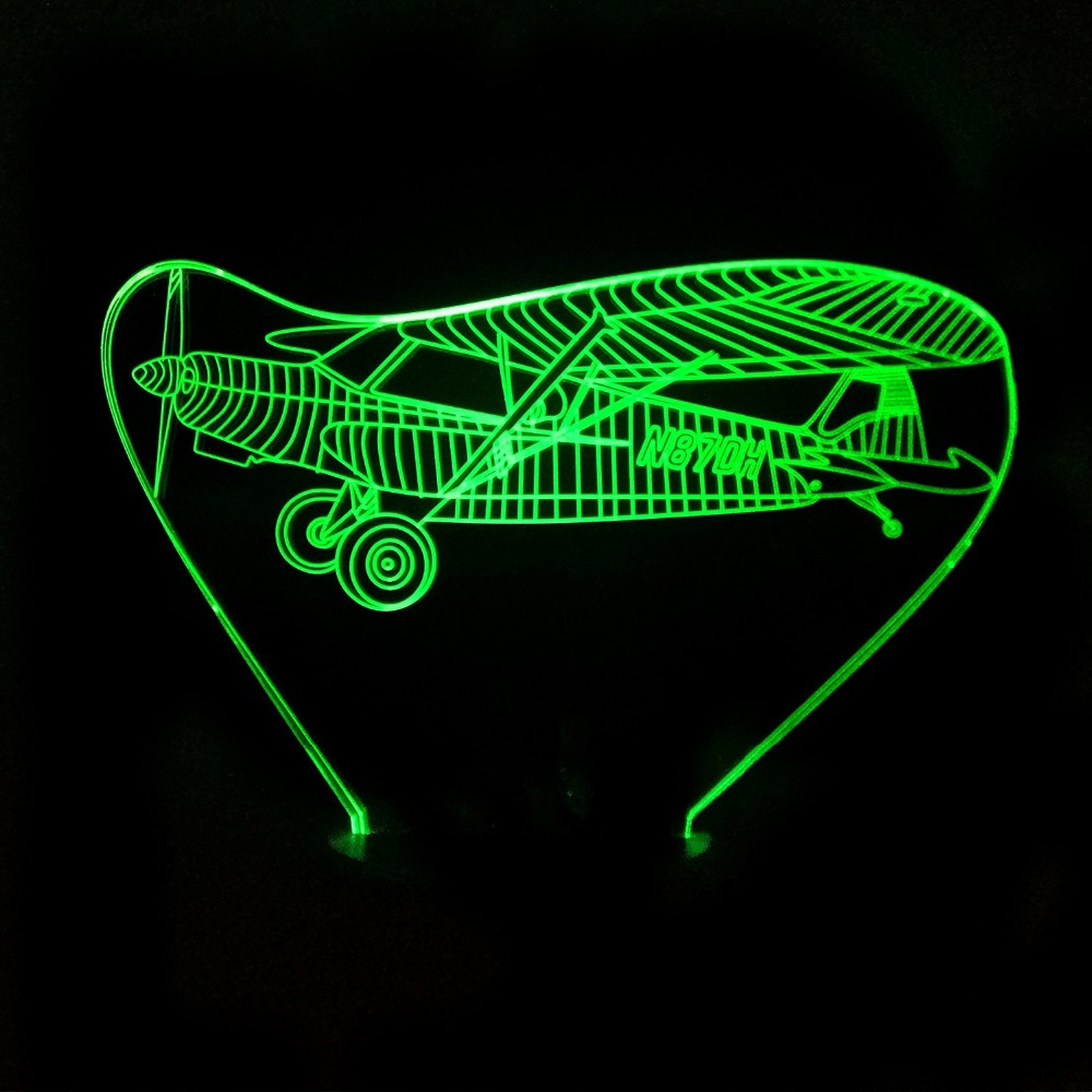 Jet AirPlane 3D LED Night Lights 7 Color Change Usb Desk Table Lamp Baby Bedroom Sleeping Lighting Home Deco Boy Gift image