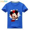 Jiuhehall Verão Nova Chegada Crianças Camisetas Caráter Mouse Impressão Crianças Traje Moda Da Menina do Menino de Manga Curta Tee Top ACM152