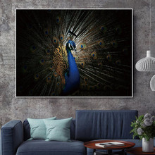 Art Poster Canvas Painting Wall Pictures Decor Peacock Prints Animals on Decoration for Living Room Picture Unframed