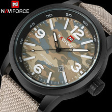 Hombres reloj deportivo naviforce marca hombre militar reloj de cuarzo de moda banda de nylon auto fecha 30 m impermeable relojes de pulsera reloj hombre