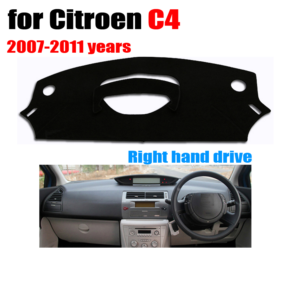 Car dashboard cover mat for Citroen old C4 2007-2011 years Right hand drive dashmat pad dash covers dashboard accessories