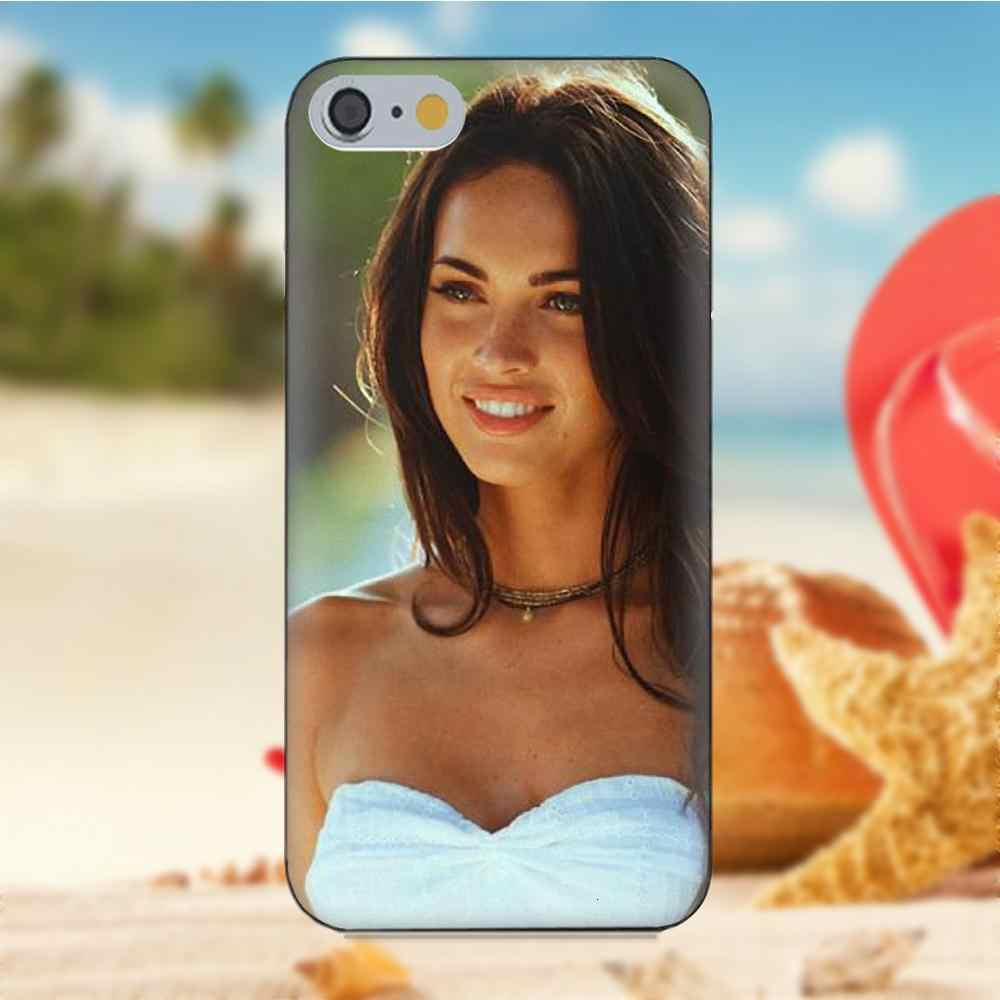 Oedmeb Для iPhone 4S 5S 5C SE 6 S 7 Плюс 8 Х Galaxy Note 5 6 8 S9 + Grand Core Prime Альфа Мягкой Моды Мобильный Телефон Меган Фокс