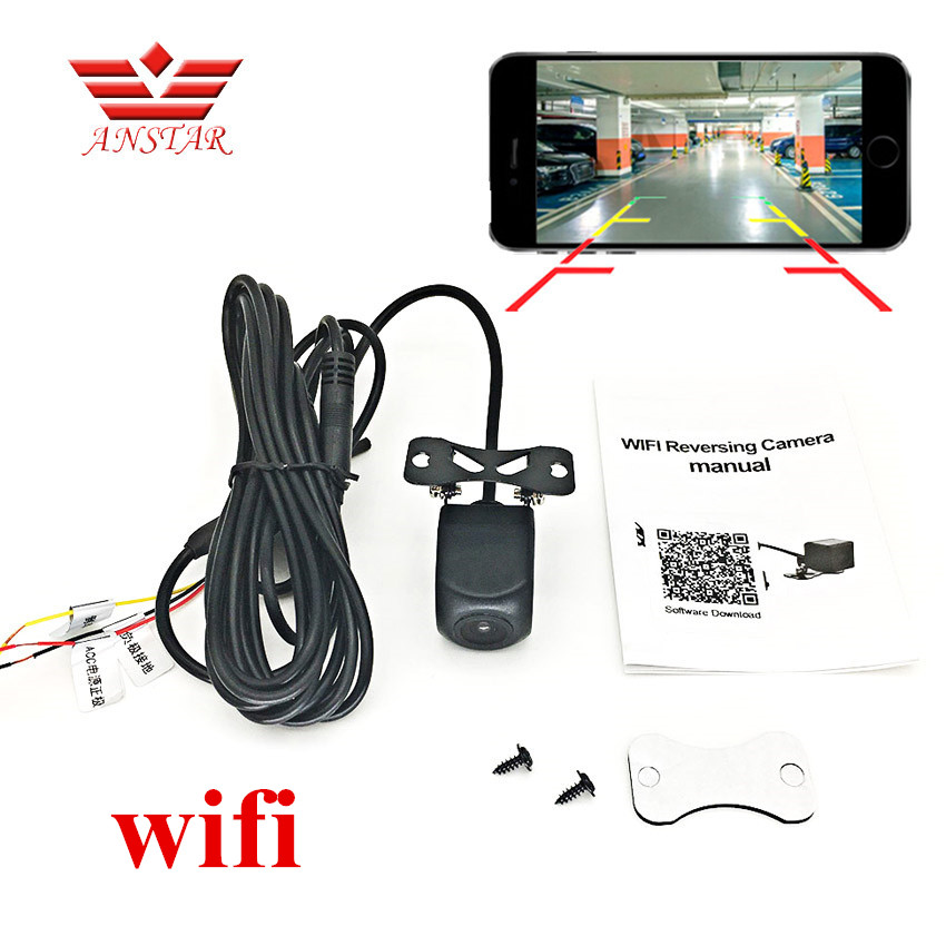 ANSTAR Mini wifi Waterproof HD Night Vision Car Backup Reverse font b Camera b font Rear