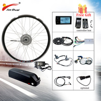 Bafang 36V 250W 500W Electric Bike Kit SAMSUNG Ebike Kit 26 700C 28 Front Wheel Motor Electric Bicycle Conversion Kit E Bike