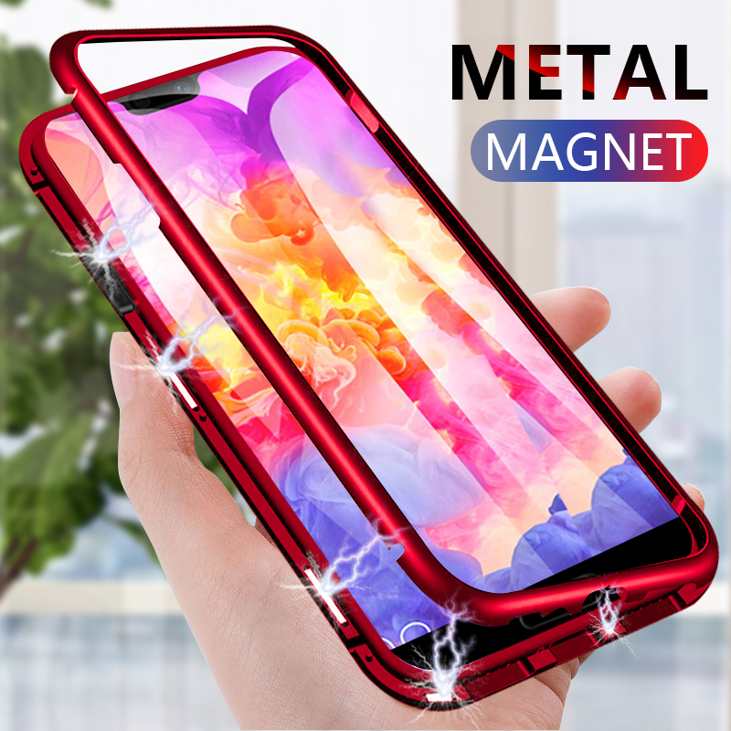 Magnetic Adsorption Phone Case For OnePlus 7 Pro One Plus 6T Tempered Glass Back Cover Metal Case For Oneplus 7 5T One Plus 6Magnetic Adsorption Phone Case For OnePlus 7 Pro One Plus 6T Tempered Glass Back Cover Metal Case For Oneplus 7 5T One Plus 6