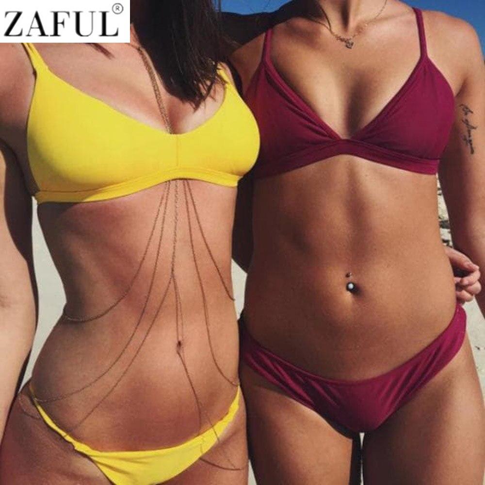 ZAFUL Micro Bikini Women Swimsuit 2018 Swimwear Sexy Brazilian Bikini Beach Wear Bathing Suit Push Up Biquini Bandeau Femme bikini 2017 brazilian bikinis for women swimming suit biquinis swimwear string bathing suit micro biquini plavky sexy beach wear