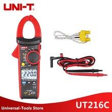 цена на UNI-T UT216C Digital Clamp Meters Multimeters 600A True RMS  Auto Range UT216C/A Frequency Capacitance Temperature NCV Tester