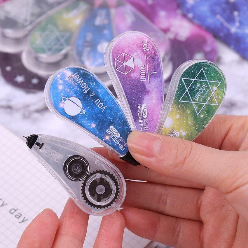 4PCS/1Set Cute Starry Sky Correction Tape Kawaii Corrector For School Stationery School Supply Papeleria