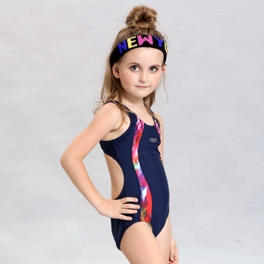 02496d643f High Quality Children's Professional Racing Swimsuit Girls One-Piece Cute Kids  Swimwear Child Black Bathing Suit