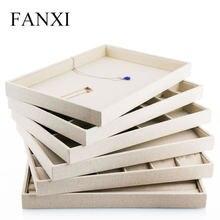 Поднос для ювелирных украшений fanxi льняной комбинированный
