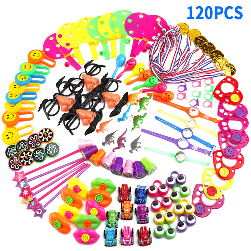 120Pcs Kids Birthday Party Favors Pinata Filler Assorted Gift Toys Set Treasure Box Prizes Novelty Toys for Kids Birthday-in Gags & Practical Jokes from Toys & Hobbies