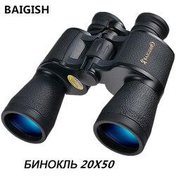 20x50 binoculares rusos Hd potente Binocular militar Zoom de alta frecuencia telescopio binocular Lll visión nocturna para la caza