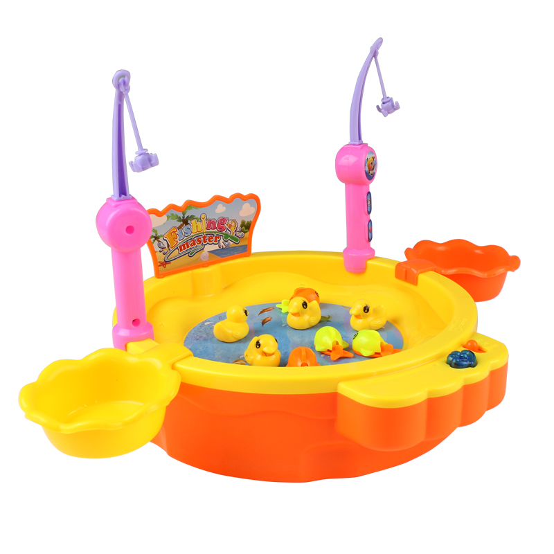 Toys & Hobbies Outdoor Fun & Sports 24pcs Electric Fishing 29cm Platform Cartoon Fish Duck Educational With Light Music Ability Training Interaction Children Toys