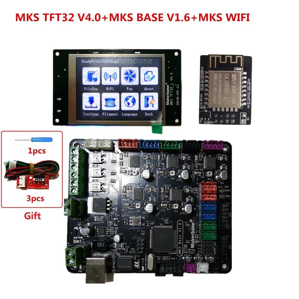 купить 3d printer starter kit mother board MKS BASE + MKS TFT32 V4.0 touch screen all in one controller imprimante Reprap control panel по цене 4827.82 рублей