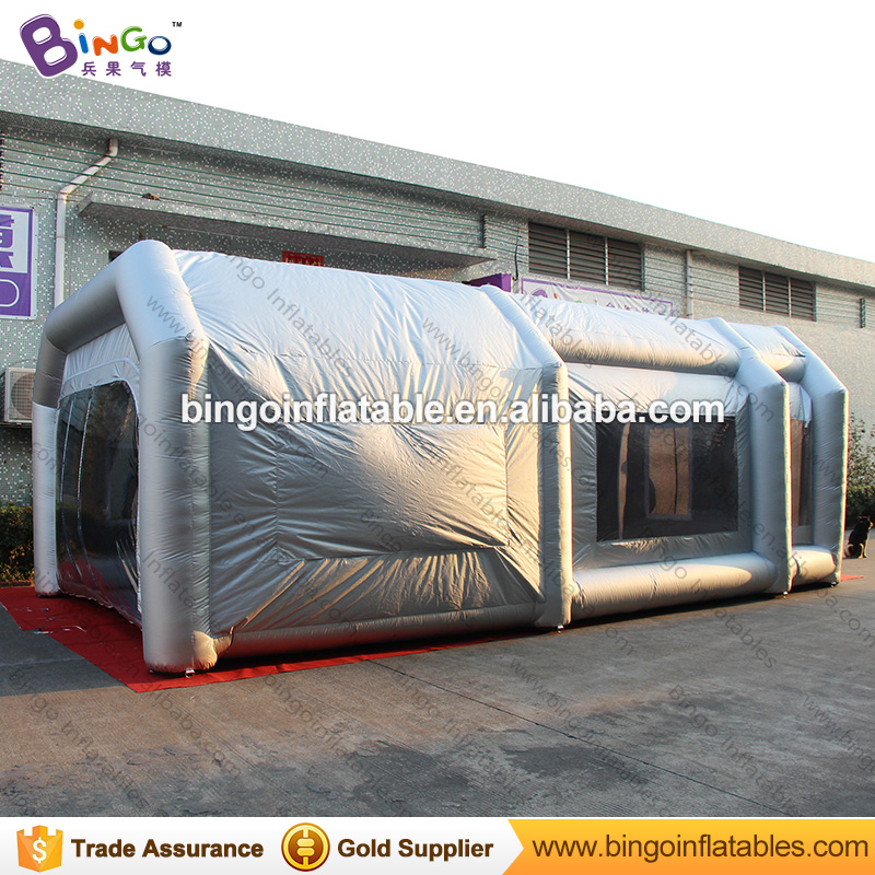 все цены на Free Shipping Inflatable Spray Paint Garage Booth Tent High Quality 8X4.5X3 Meters Cabine de peinture gonflable toy tents онлайн