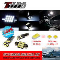 8x LED Car Auto Interior Canbus Dome Map Reading Light White 2835 Chips Kit For VW